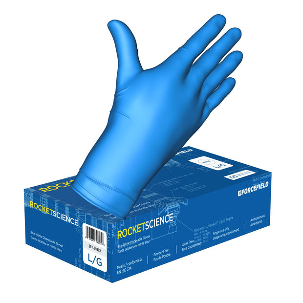 Rocket Science, Heavy-Duty Nitrile Disposable Gloves (Case of 500 Gloves)