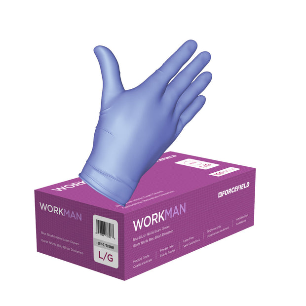 Workman Nitrile Disposable Examination Gloves (Case of 1000 Gloves)