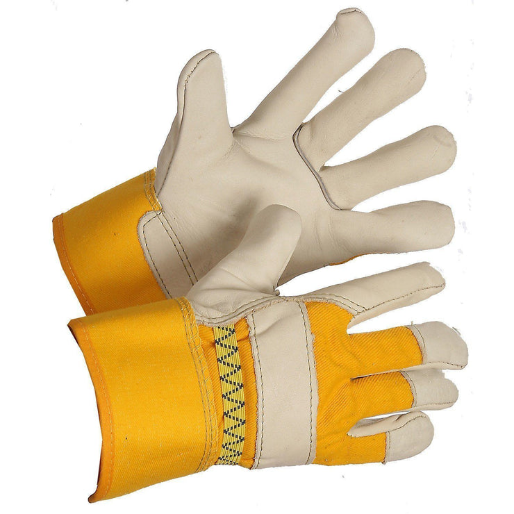 """Big Bertha"" Ladies Fleece Lined Leather Work Gloves - Hi Vis Safety"