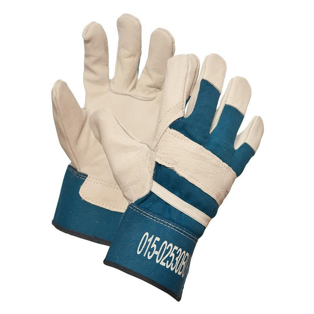"""Buffalo Bill"" Buffalo Grain Leather Work Gloves - Hi Vis Safety"