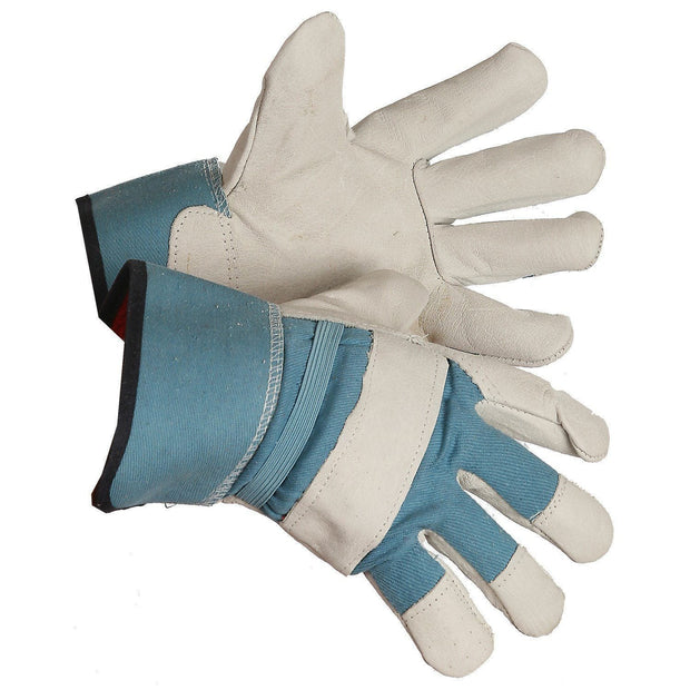 Buffalo Grain Leather Fleece Lined Work Glove - Hi Vis Safety
