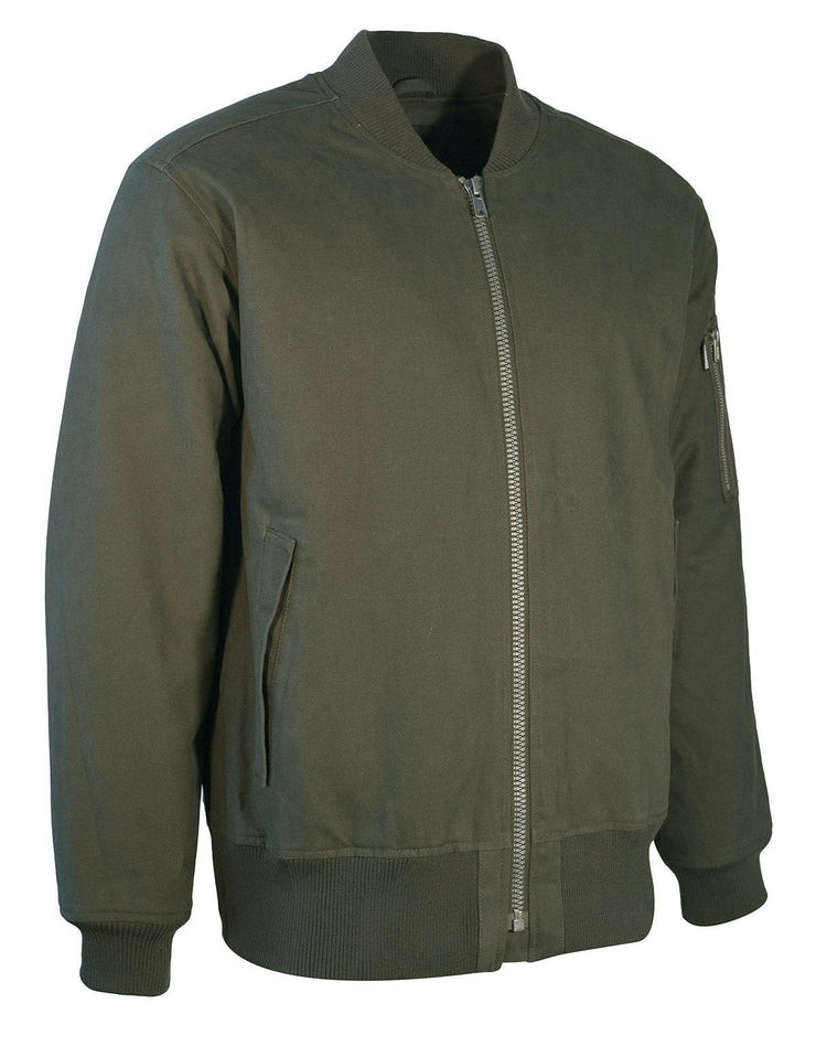 Canvas Aviator Jacket - Hi Vis Safety