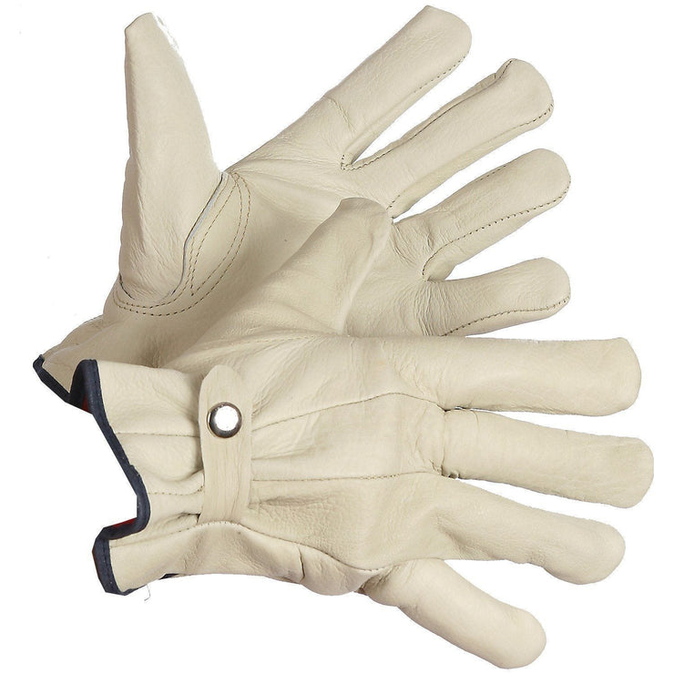 """Cattle Baron"" Fleece Lined Roper's Gloves - Hi Vis Safety"