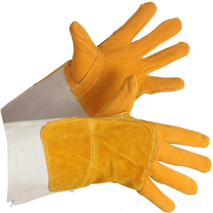 Deerskin Split Leather Welder - Hi Vis Safety