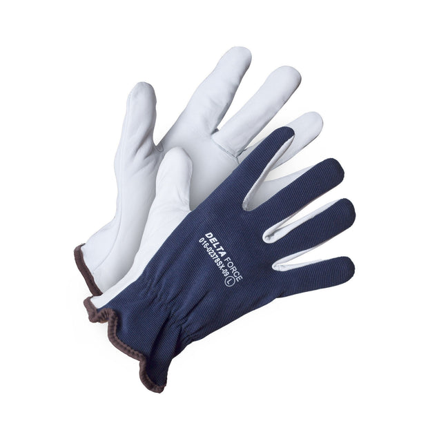 Delta Force Spandex Back Goatskin Driver's Glove - Hi Vis Safety