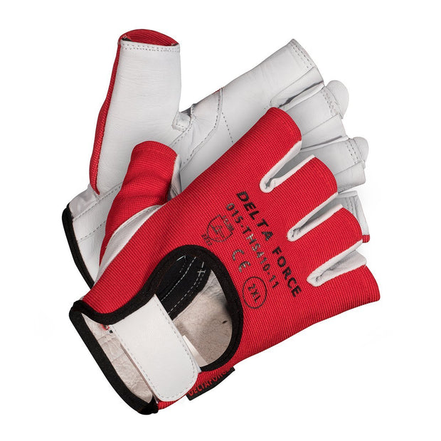 Delta Force Vibration Dampening Half-Finger Gloves - Hi Vis Safety