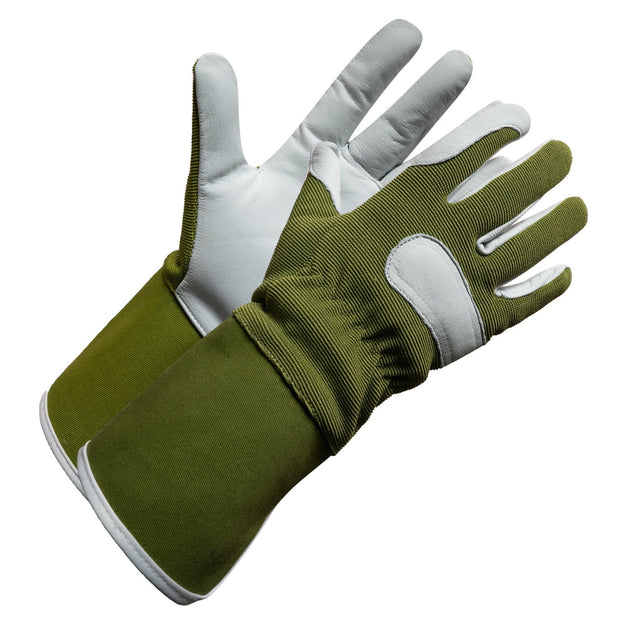 """Fieldwork Ladies Garden Gloves"" Leather Precision Fit - Hi Vis Safety"