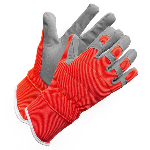 """Fieldwork Ladies Garden Gloves"" Performance Fit - Hi Vis Safety"