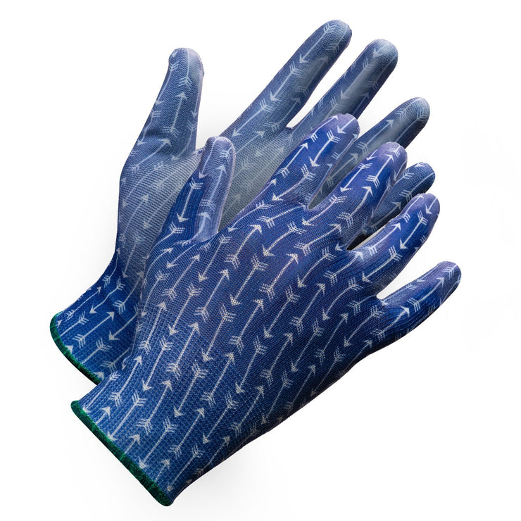 """Fieldwork Ladies Garden Gloves"" Seamless Palm Coated - Hi Vis Safety"