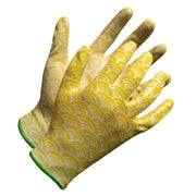 """Fieldwork Ladies Garden Gloves"" Seamless Palm Nitrile Coated - Hi Vis Safety"