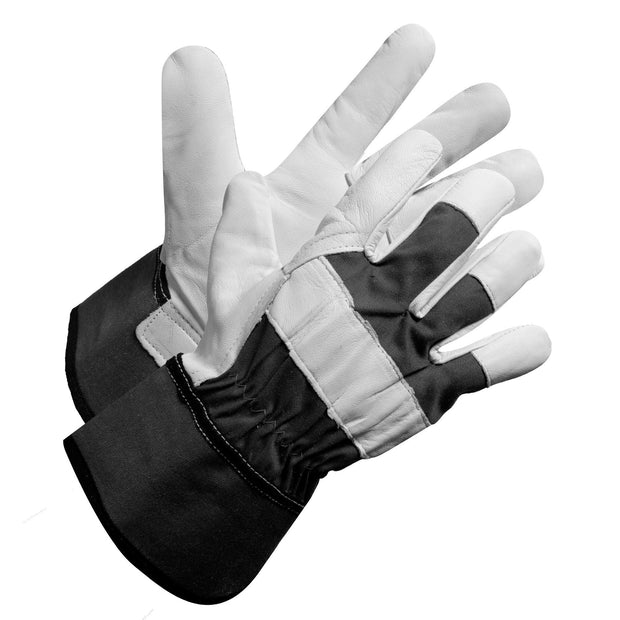 """Fieldwork Leather Palm"" Goatskin leather palm, knuckles and fingertips - Hi Vis Safety"
