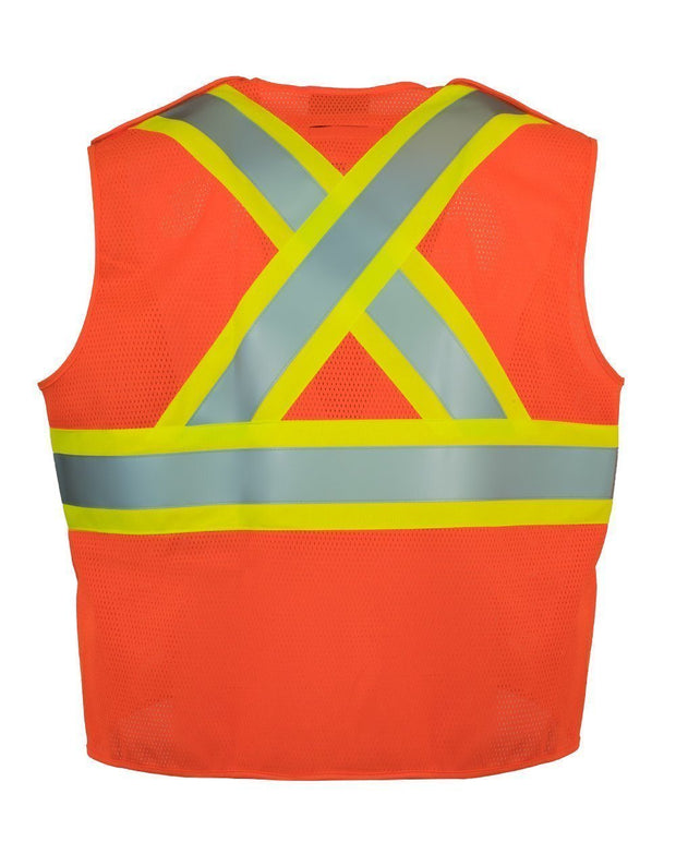 Fire Resistant (FR) 5-Point Tear-away Hi Vis Safety Vest - Hi Vis Safety
