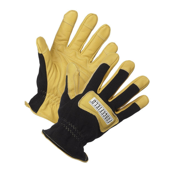 Flame Resistant Kevlar™ Lined and Stitched Goatskin Driver's Gloves - Hi Vis Safety