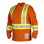 FR Flame & Arc Resistant Long Sleeve Tee Shirt HRC2 - Hi Vis Safety