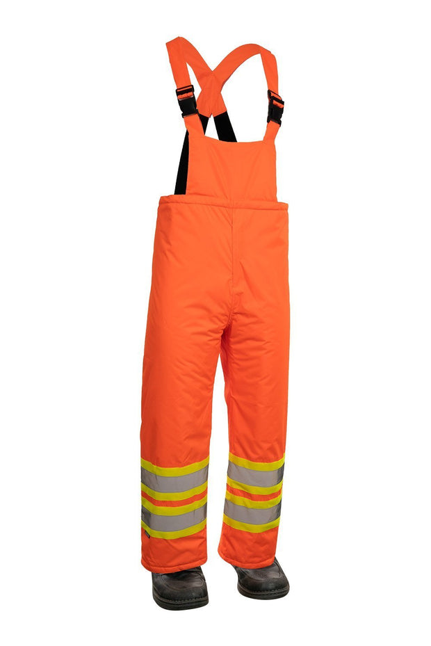 Hi Vis Insulated Miner Bib Pant - Hi Vis Safety