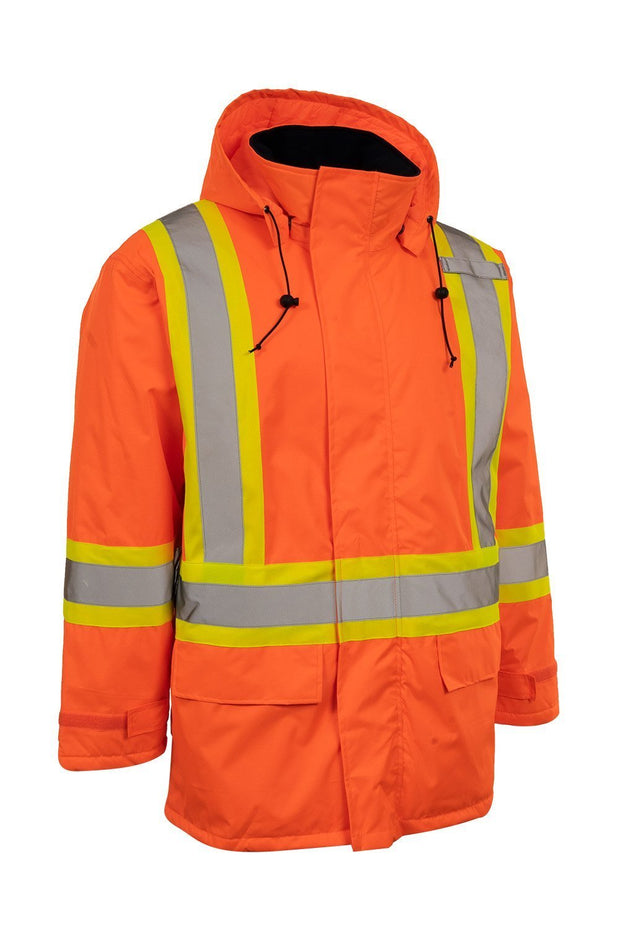 Hi Vis Insulated Miners Jacket - Hi Vis Safety