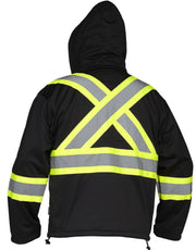 Hi Vis Safety Softshell Water Resistant Jacket - Hi Vis Safety
