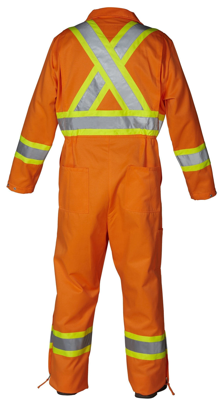 Hi Vis Safety Unlined Coverall - Hi Vis Safety