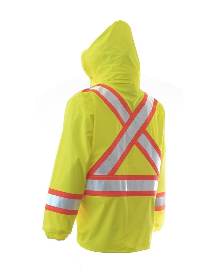 High Visibility Fire Resistant Rain Jacket - Hi Vis Safety