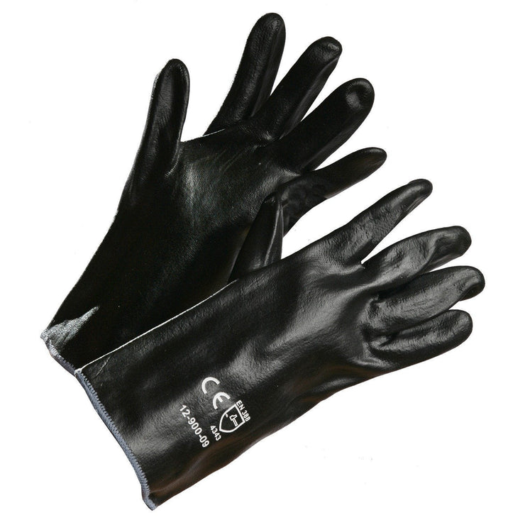 HPPE Gauntlet Fully-Coated with Black Nitrile, Cut Level 3 - Hi Vis Safety
