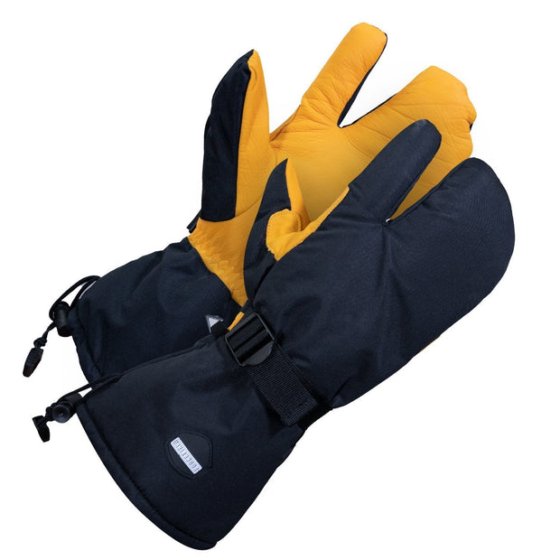 Leather Utility Mitt - Hi Vis Safety
