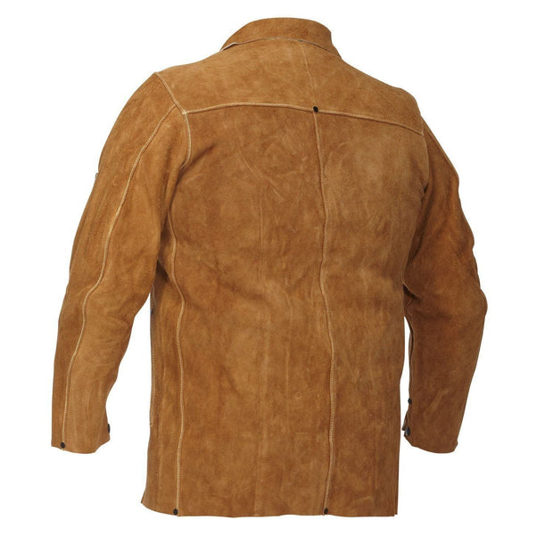 Leather Welding Jacket - Hi Vis Safety