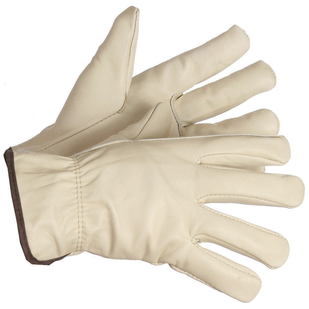 """Maximum Overdrive"" Fleece Lined Driver's Gloves, Elastic Wrist - Hi Vis Safety"