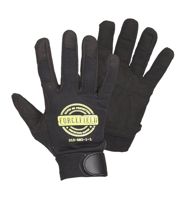 Mechanic's Glove with Padded Palm - Hi Vis Safety