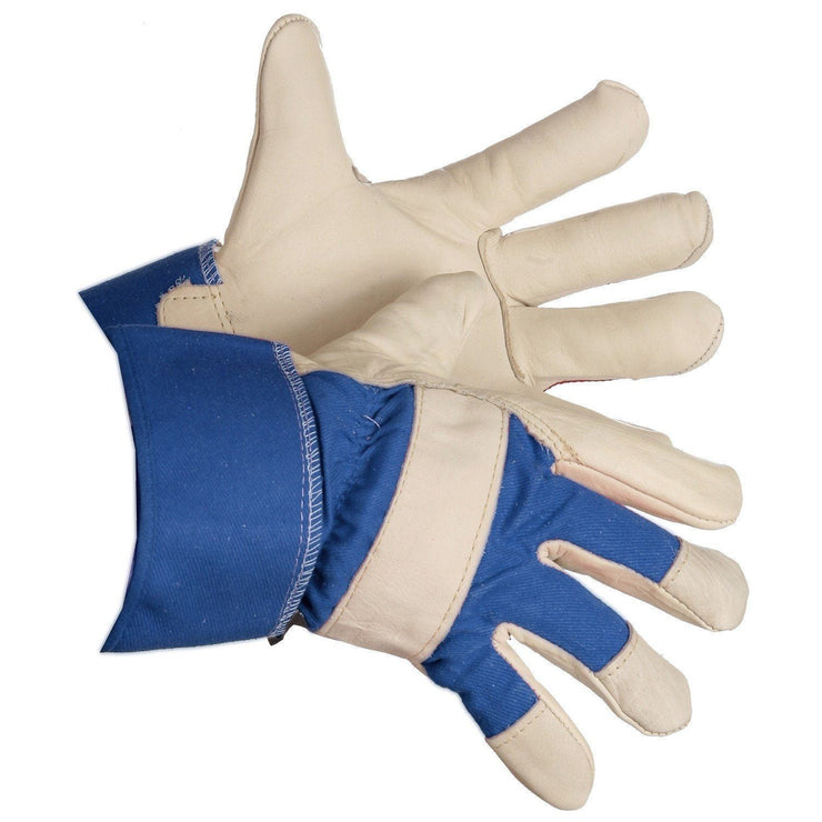 """Northern Lights"" Thinsulate Lined Grain Leather Work Gloves - Hi Vis Safety"