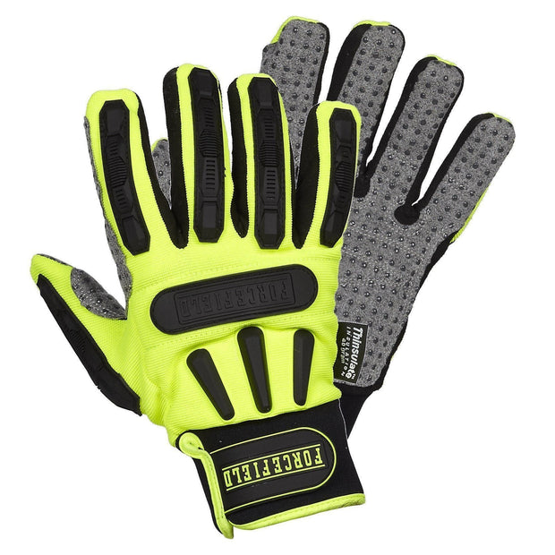"""Ruffneck"" Thinsulate Lined Mechanic's Glove with TPR Back - Hi Vis Safety"