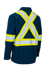 Safety Softshell Shirt-Jacket - Hi Vis Safety