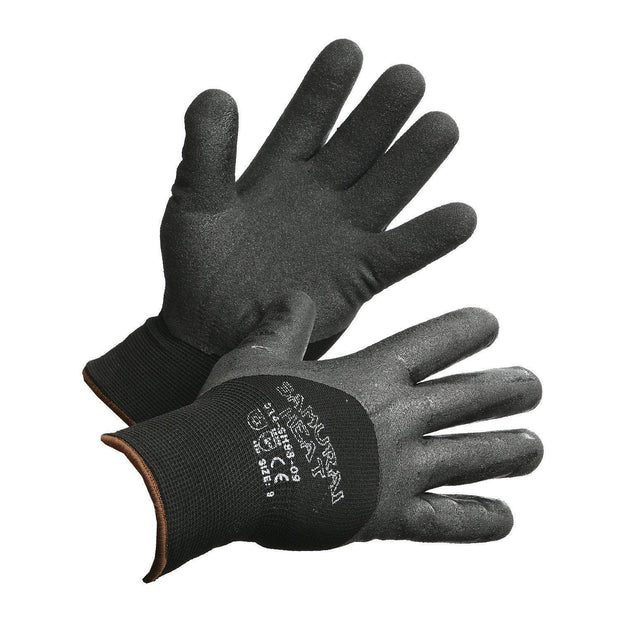 """Samurai Heat"" Insulated and 3/4 Nitrile Coated High Performance Work Gloves - Hi Vis Safety"