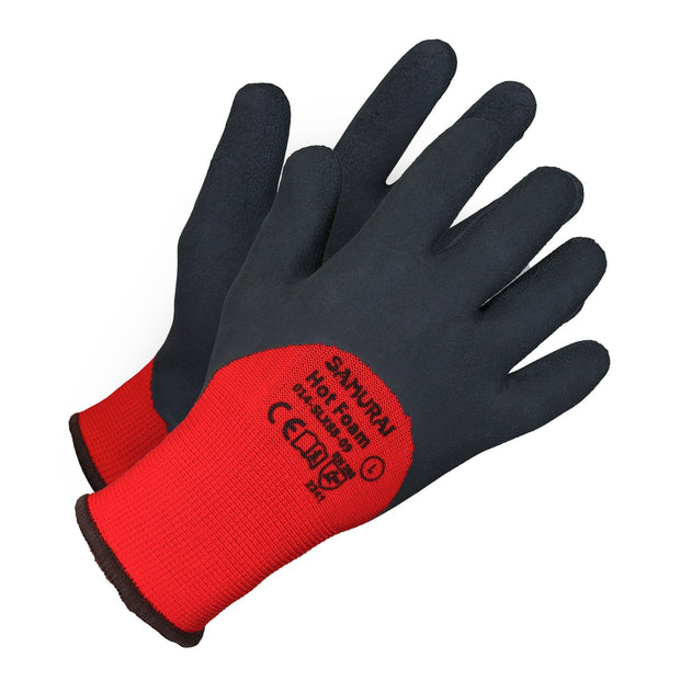 """Samurai Hot Foam"" High Dexterity Insulated Work Gloves - Hi Vis Safety"