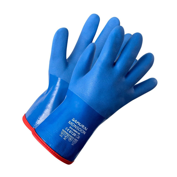 """Samurai Monsoon"" PVC Triple Dipped Glove, Acrylic Boa Liner - Hi Vis Safety"