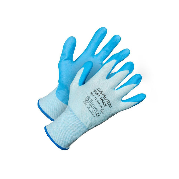 """Samurai Soft Touch"" Cut Resistant Gloves - Hi Vis Safety"