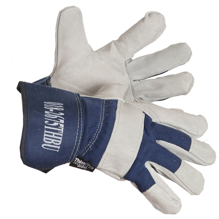 Thinsulate Lined Split Leather Gloves - Hi Vis Safety