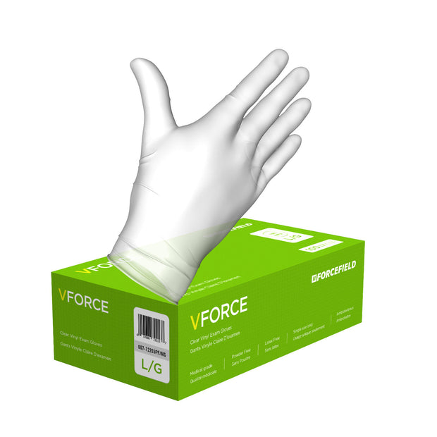 VForce Vinyl Disposable Examination Gloves (Case of 1000 Gloves)