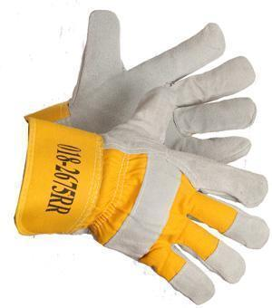 """Wild Catter"" Fleece and Foam Lined Split Leather Work Glove - Hi Vis Safety"