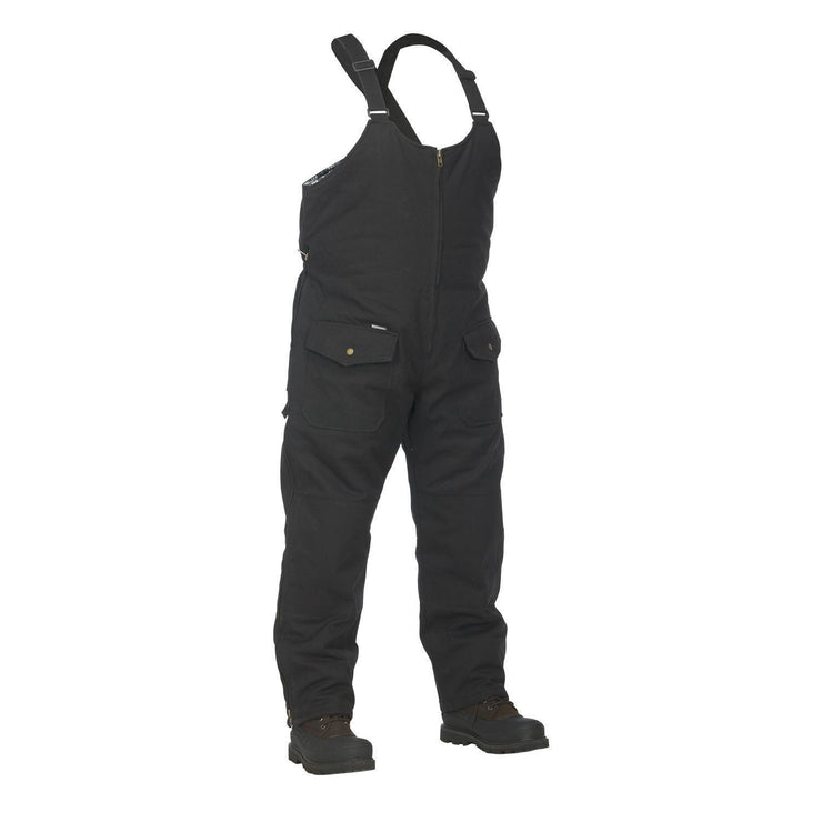 Winter Lined Black Cotton Canvas Overall - Hi Vis Safety