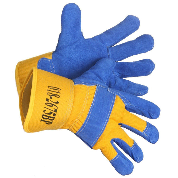 """Yukon Eric"" Pile Lined Split Leather Work Glove - Hi Vis Safety"