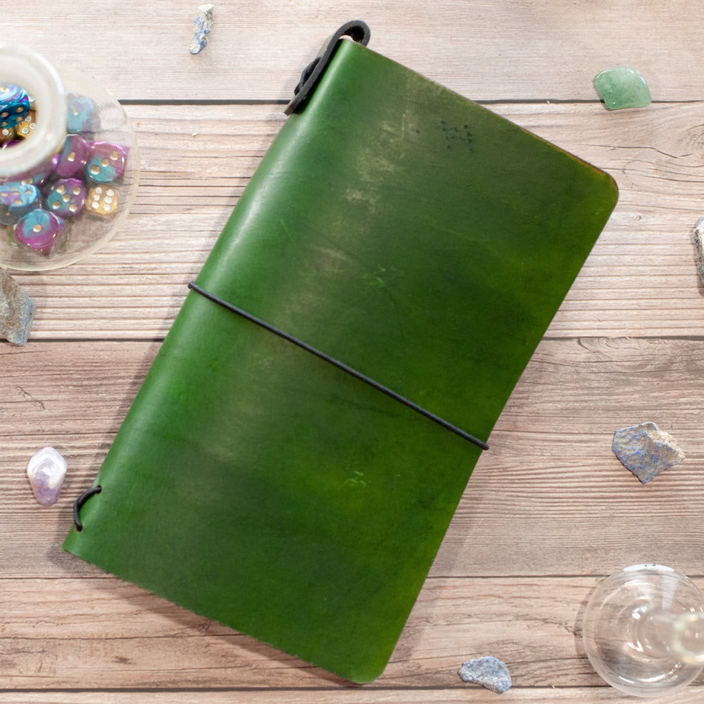 Druid Grove Green Traveler's Notebook - The Rogue Crusade