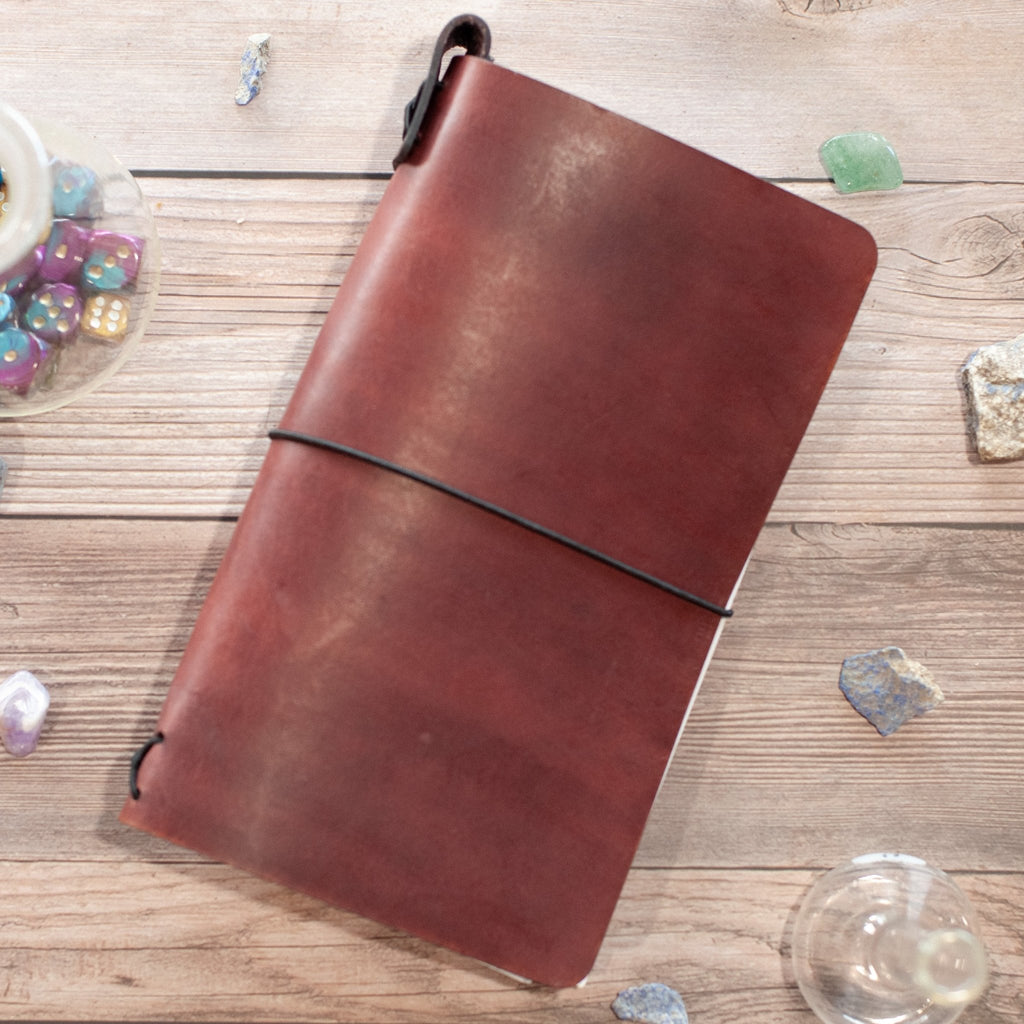 Wizard's Robe Mahogany Traveler's Notebook - The Rogue Crusade