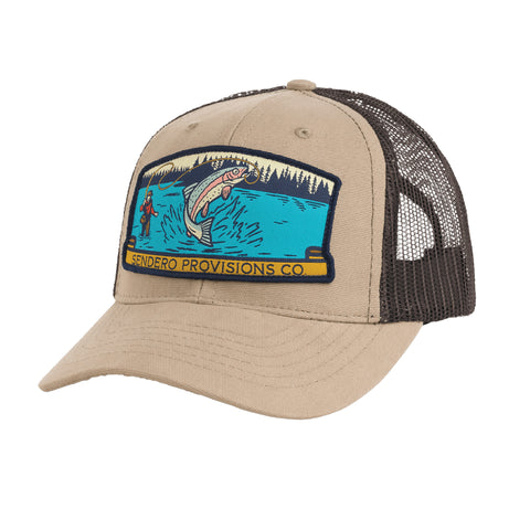 Fly Fisher Hat - Khaki/Brown