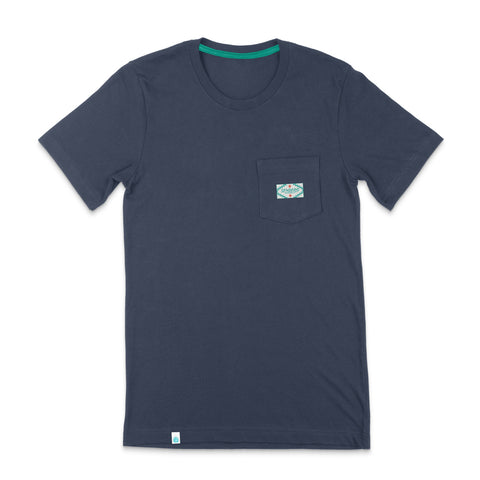 Sendero Pocket Tee - Steel Blue