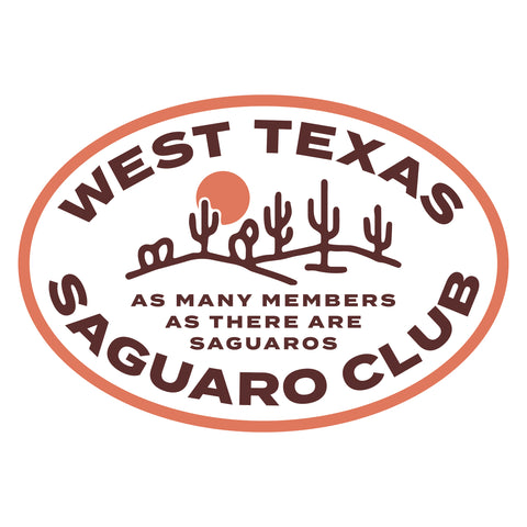 Texas Saguaro Club Sticker