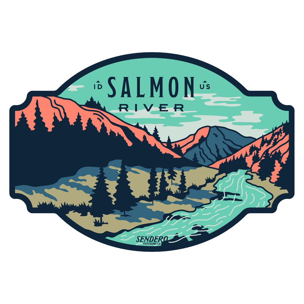 Salmon River Sticker