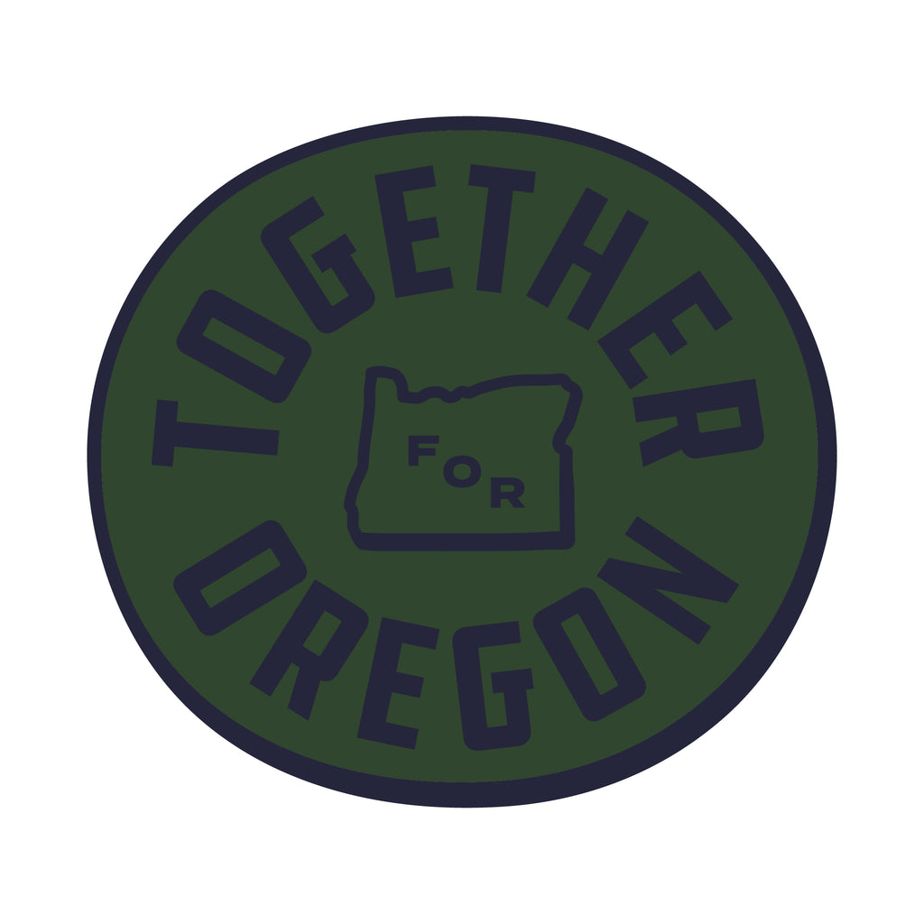 Together For Oregon Sticker - Green
