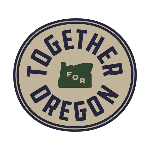 Together For Oregon Sticker - Vintage
