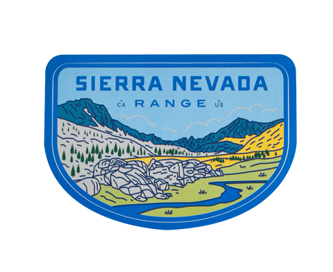 Sierra Nevada Range Sticker