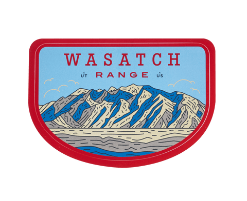Wasatch Range Sticker